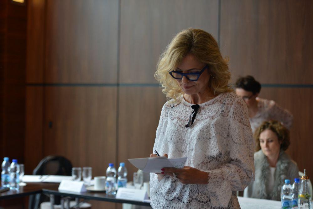 Małgorzata Michalak-Rydzel na spotkaniu zespołu TLnC