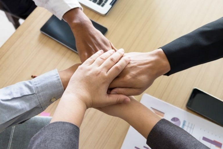 Business Team Teamwork Partnership Together Concept.